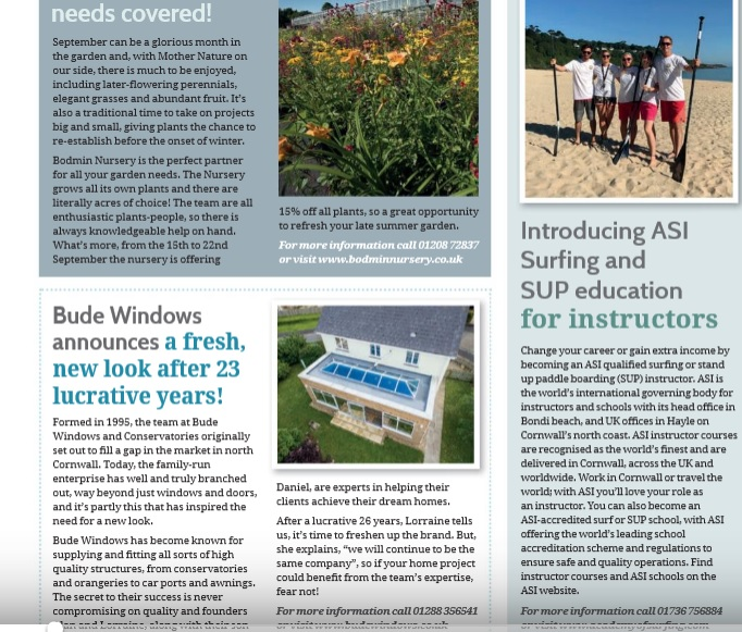ASI article and competition in Cornwall Living Magazine