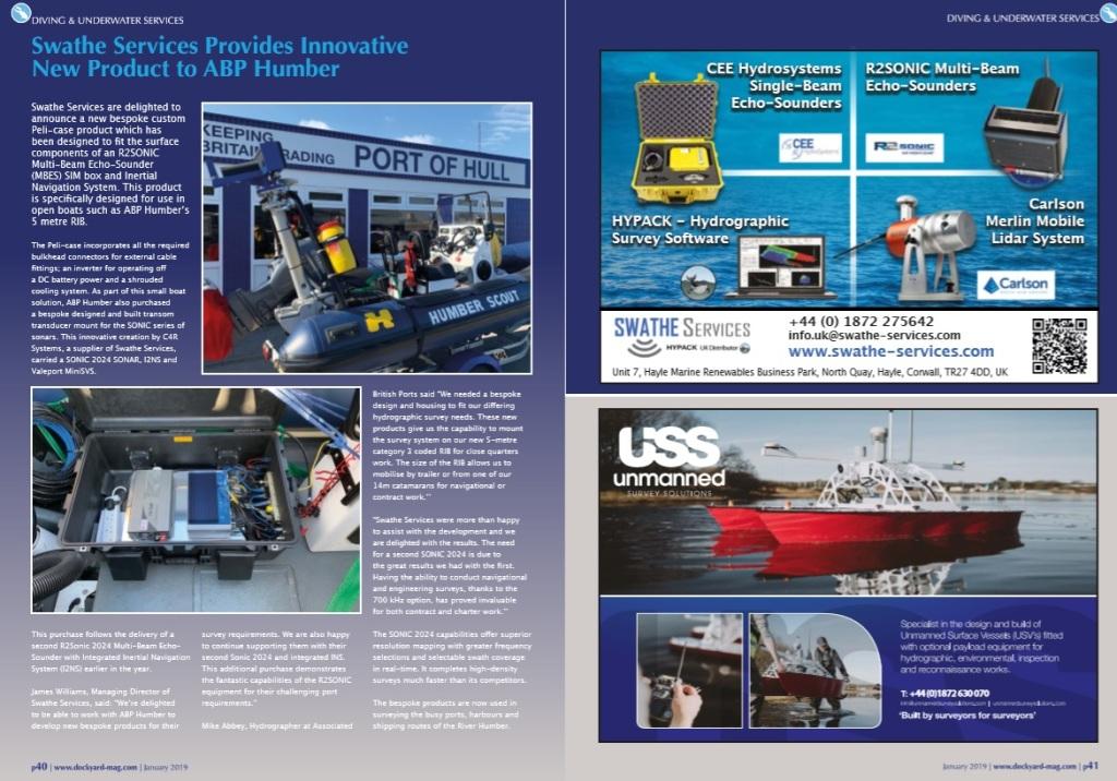USS Dockyard editorial and Advert